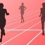 maratonlöpare kör silhuetter vector — Stockvektor  #17482923