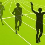 Marathon runners running silhouettes vector — Stock Vector #17482949