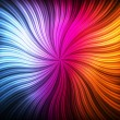 Abstract burst background with neon effects - Vettoriali Stock