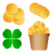 Patrick day vector set background for poster — ストックベクタ