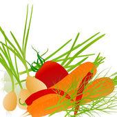 Verdura ecologia vector sfondo — Vettoriale Stock