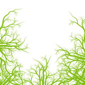 Green roots ecology background vector — Stock Vector