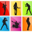 Royalty-Free Stock Vector Image: Music band set vector background