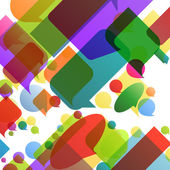 Colorful speech bubbles and balloons cloud illustration backgrou — Stockvektor