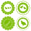 Quail meat vector background label stamp green farm concept — Stock Vector