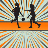 Women basketball vector background for poster — Stock Vector
