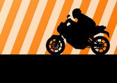 Motorbike rider motorcycle silhouette vector for poster — Stock Vector