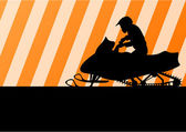 Ilustración de moto moto rider silueta — Vector de stock
