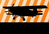 Airplane flying vector background for poster — Stockvector