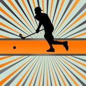 Floorball 播放器矢量剪影背景抽象爆裂 — 图库矢量图片