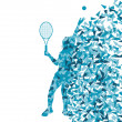 Tennis players silhouettes vector background concept made of fra — Stock Vector #29850597