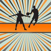 Basket spelaren vektor abstrakt bakgrund koncept — Stockvektor