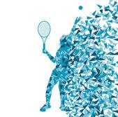 Concepto de fondo de fra del vector siluetas de los jugadores de tenis — Vector de stock