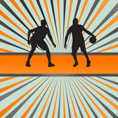 Basketball player vector abstract background concept — Stock Vector