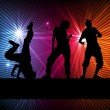 Stock Vector: Girl dance silhouette vector background concept