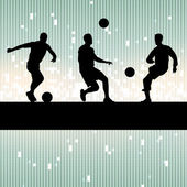Soccer player vector background concept — Stock Vector