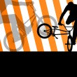 Extreme cyclist active sport silhouettes vector background — Stock Vector