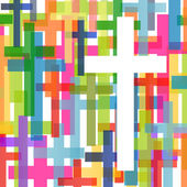 Christianity religion cross mosaic concept abstract background v — Stock Vector