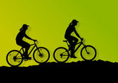 Active cyclist bicycle rider background illustration vector — Vecteur