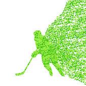 Hokejový hráč silueta sport abstraktní vektorové pozadí co — Stock vektor
