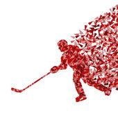Buz hokeyi oyuncusu siluet spor tasarlamak vektör arka plan co — Stok Vektör