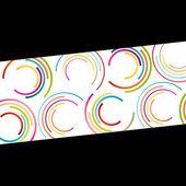 Color círculo elipse líneas olas colorido mosaico abstracto — Vector de stock