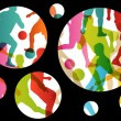 Soccer football players active sport silhouettes vector abstract — Stock Vector #42974595