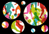 Soccer football players active sport silhouettes vector abstract — Vetorial Stock