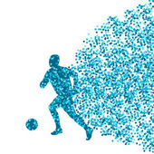 Soccer player winner vector background concept isolated  made of — Stock Vector