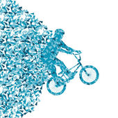 Extreme bicycle riders sport vector background illustration conc — Vector de stock