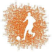 Fotboll spelare vinnaren vektor bakgrund begreppet isolerat av — Stockvektor