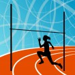 ������, ������: High jump athletics active woman girl sport silhouette concept i