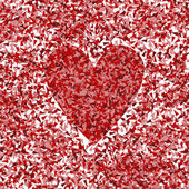 Heart vector background concept made of fragments — Vettoriale Stock
