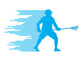 Lacrosse player in action vector background concept made of stri — Stock Vector