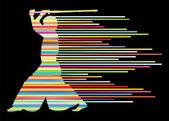 Kendo japonês ativo espada artes marciais lutador vector backgrou — Vetorial Stock