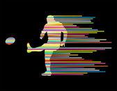 Rugby jogador homem silhueta vector base conceito de st — Vetorial Stock