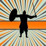 Medieval knight, warrior vector background — Stock Vector #49756309