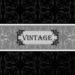 Vintage vector decorative frame for book cover or card background — Stock Vector #6744500