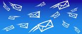 Fondo de correo electrónico — Vector de stock
