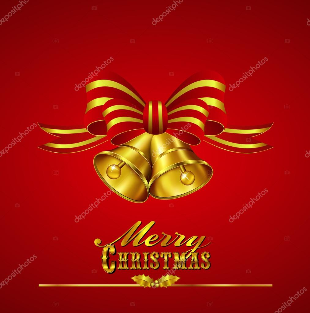 Ornate Merry Christmas Card with hand drawn typefaces - All elements are on individual layers in the vector file for easy editing — Stock Vector #14248455