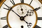 Antique Clock close up — Stock Photo