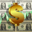 Dollar Symbol Market Graph Background — Stock Photo