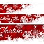 Snowflakes Christmas Web Banners — Stock Vector #33607275