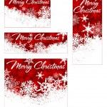 Snowflakes Christmas Web Banners — Stock Vector #33608019
