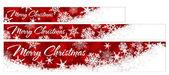 Snowflakes Christmas Web Banners — 图库矢量图片