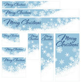 Snowflakes Christmas Web Banners — Stock Vector
