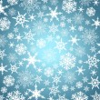 Stylized Christmas snowflakes - Abstract vector background. — Stock Vector