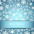 Snowflakes - Snowflake Christmas Card, Background — Stock Vector #35658843