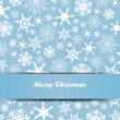 Snowflakes Merry Christmas Card 1 — Stock Vector