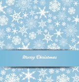 Snowflakes Merry Christmas Card 1 — Stockvector